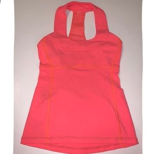 LuluLemon Coral Workout Top, Sz 4